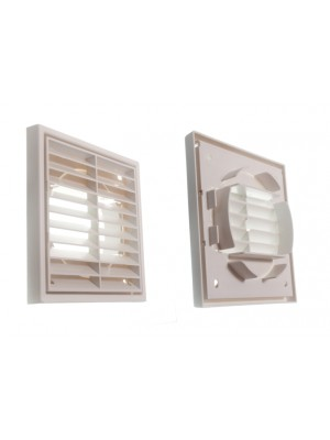 LOUVRED GRILLE EXTERIOR/ INTERIOR USE VENT 100mm 4 INCH