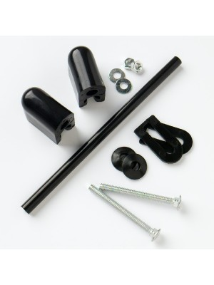 TOILET SEAT FITTING KIT CLASSIC WITH BLACK HINGES