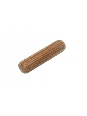 WOODEN DOWELS HARDWOOD GROOVED FLUTED WOOD PINS M10 X 40MM