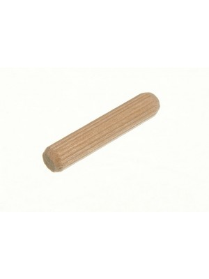 WOODEN DOWELS HARDWOOD GROOVED FLUTED WOOD PINS M6 X 30MM
