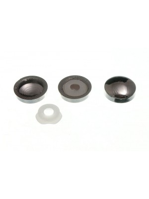 PLASTIDOME CLICK ON SCREW COVER ONLY CHROME PLATED PLASTIC