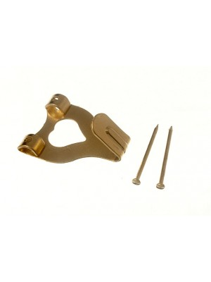 DOUBLE PICTURE HOOK NO. 3 EB BRASSED WITH PINS