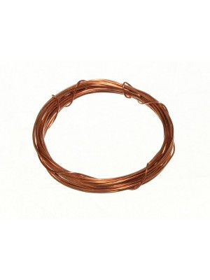 ROLL OF PICTURE WIRE COPPER PLATED 0.6MM 3 METRE