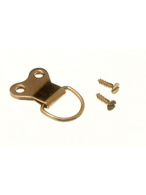 PICTURE D RING DOUBLE EB BRASS PLATED STEEL HANGERS