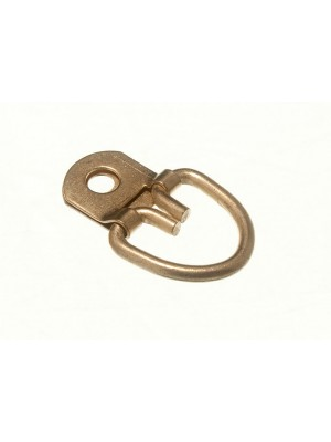 PICTURE STRAP HANGER 1 HOLE EB BRASS PLATED STEEL HEAVY DUTY