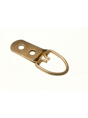 PICTURE STRAP HANGER 2 HOLE EB BRASS PLATED STEEL HEAVY DUTY